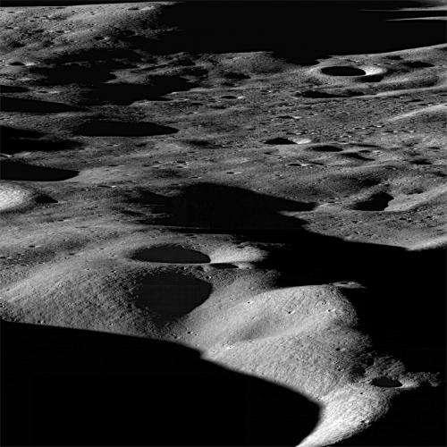 Metamorphosis of moon's water ice explained