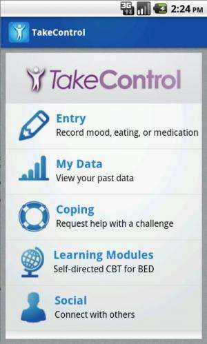 Mobile tech and talk therapies strike at the moment binge eating urges do
