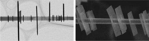 Semiconductor 'shish kabob' nanostructures combine properties from different dimensions