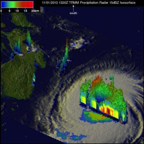NASA saw heavy rain in Typhoon Krosa before it hit wind shear