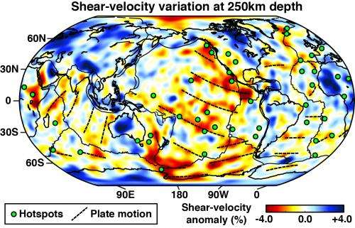 New model of Earth's interior reveals clues to hotspot volcanoes