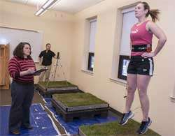 Researcher evaluates how playing surfaces affect athletic performance, injury potential