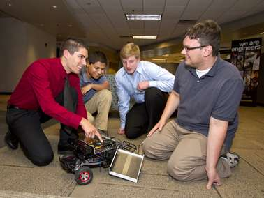 Robotic toy car drives engineering students' business venture