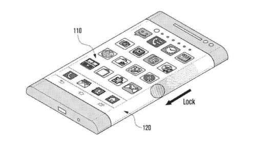 Samsung applies for patent on wraparound phone display
