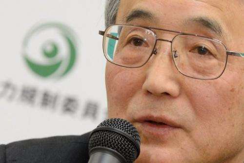 Shunichi Tanaka, chairman of the Japan's Nuclear Regulation Authority, answers questions in Tokyo on January 23, 2013