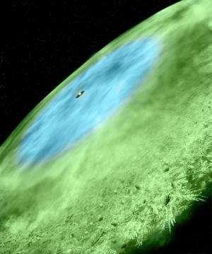 Snow falling around infant solar system