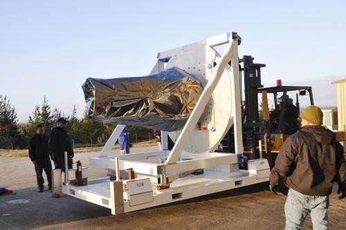 Solar Satellite Arrives at Vandenberg AFB for Launch