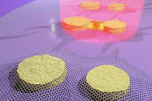'Tense' graphene joins forces with gold nano-antennas
