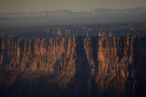 The Grand Canyon pictured in the Grand Canyon National Park in Arizona on May 20, 2012
