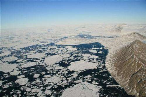The Markham Fjord in the Arctic Ocean off Canada's far north, pictured in August 2008