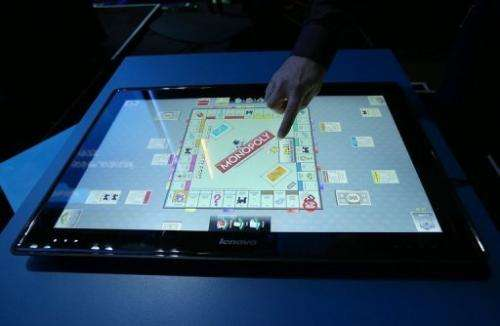 The new Lenovo IdeaCentre Horizon Table PC is showcased on January 7, 2013 in Las Vegas, Nevada
