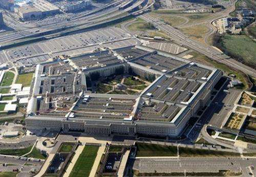 The Pentagon building in Washington, DC is shown in 2011