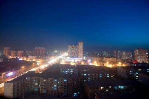 The the skyline of Baoding, Hebei province, some 140 km south of Beijing