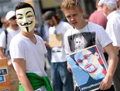 Thousands in Germany protest NSA surveillance