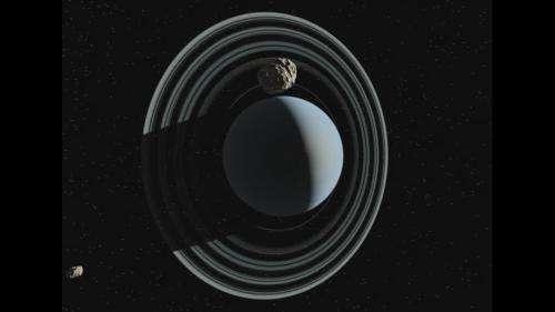 Three centaurs follow Uranus through the solar system