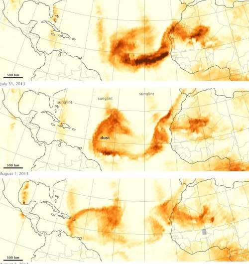 Tracking dust across the Atlantic