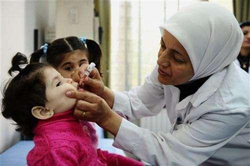 UN officials confirm polio outbreak in north Syria