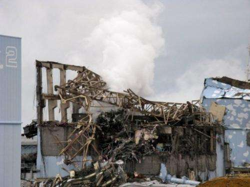 View of the unit 3 reactor at the crippled Fukushima nuclear power plant, on March 15, 2011