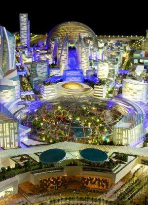 """An artist's impression of the """"Mall of the World"""" to be built in Dubai"""