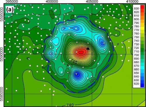 Ancient crater points to massive meteorite strike