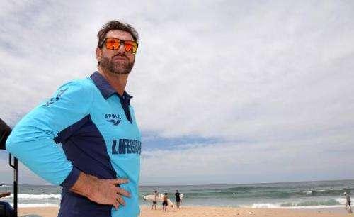 Australia's best known lifeguard Bruce 'Hoppo' Hopkins at Bondi Beach in Sydney on October 28, 2014