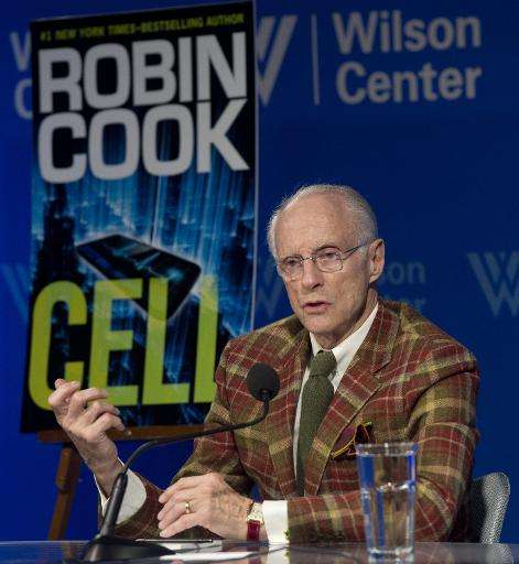 """Author Robin Cook discusses his new book """"Cell"""" at the Woodrow Wilson Center in Washington, DC on February 19, 2014"""