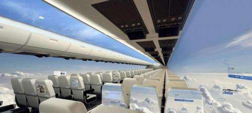 Future air passengers may get unique, windowless view