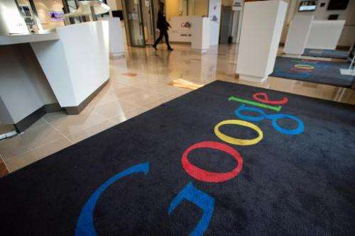 Google joined Internet rights activists on Tuesday in a virtual protest aimed at getting US law makers to reign in online snoopi