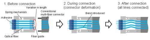Low-cost multi-fiber optical connector