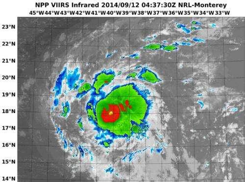 NASA-NOAA Suomi NPP sees formation of Tropical Storm Edouard