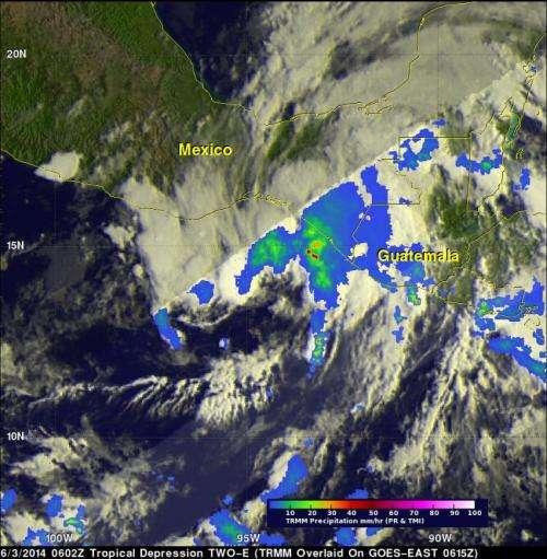 NASA sees Depression Boris mOVING over Mexico with heavy rainfall