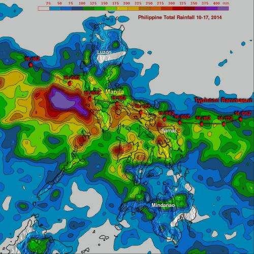 NASA sees super typhoon Rammasun eyeing landfall