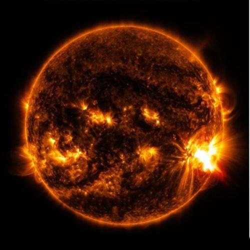 NASA's SDO observes more flares erupting from giant sunspot