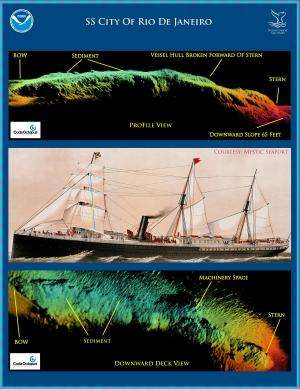 NOAA, partners reveal first images of historic San Francisco shipwreck, SS City of Rio de Janeiro