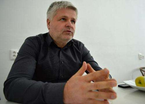 Photo taken on December 17, 2013 shows Slovak engineer Stefan Klein during an interview with AFP in Bratislava, Slovakia