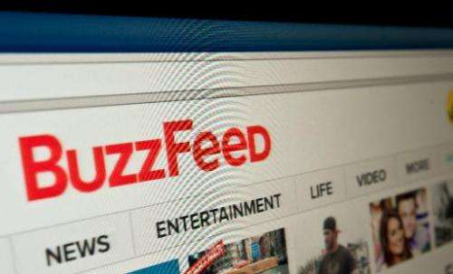 The logo of news website BuzzFeed is seen on a computer screen in Washington, DC, on March 25, 2014