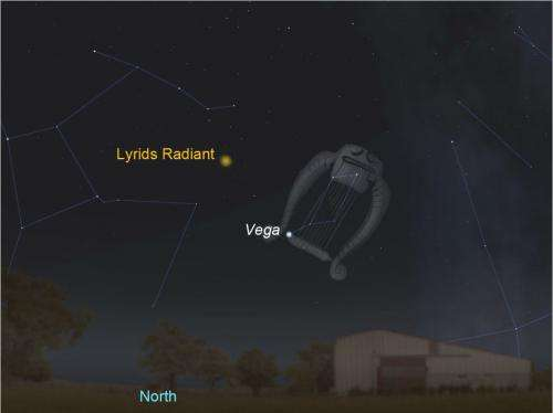 The Lyrids meteor shower should put on a show overnight