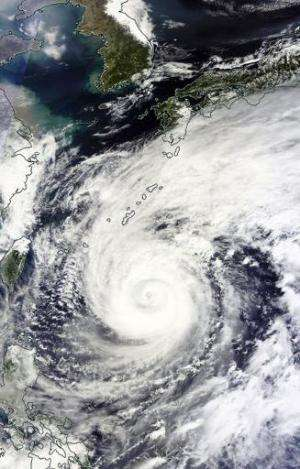 This NASA satellite image shows Super Typhoon Vongfong, in the Philippine Sea, seen on October 10, 2014