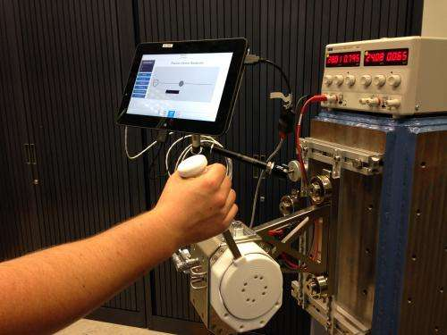 Touchy-feely joystick heading to Space Station