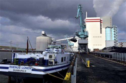 US exports help Germany increase coal, pollution