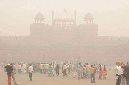 In this file photo, winter fog is seen hanging over the Red Fort in the Indian capital New Delhi, on November 7, 2009