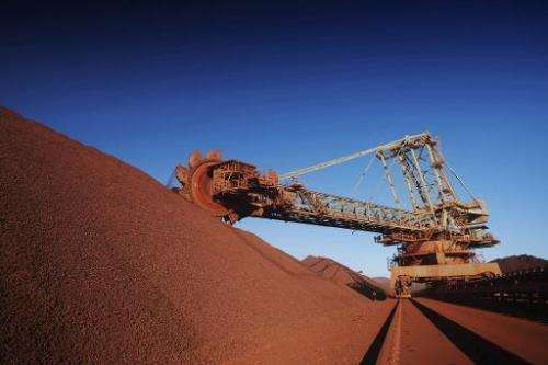 This handout photo taken and released in 2010 shows Anglo-Australian mining giant BHP Billiton's Mount Newman iron ore mine in W