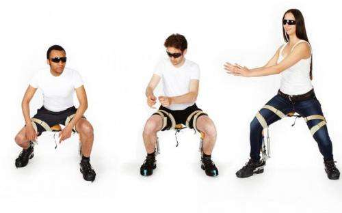 Chairless Chair solution offered as leg exoskeleton for work