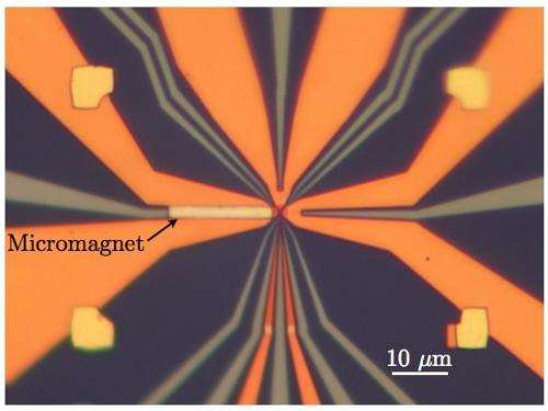 Optical micrograph of the device