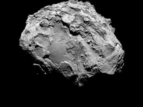This handout picture taken by the Rosetta space probe shows the Comet 67P/Churyumov-Gerasimenko from a distance of 285 kilometre