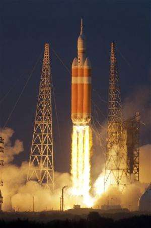 NASA launches new Orion spacecraft and new era