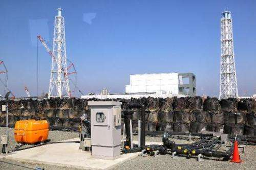 This picture taken on April 15, 2014 shows a facility to pump up underground water at the Fukushima Dai-ichi nuclear power plant
