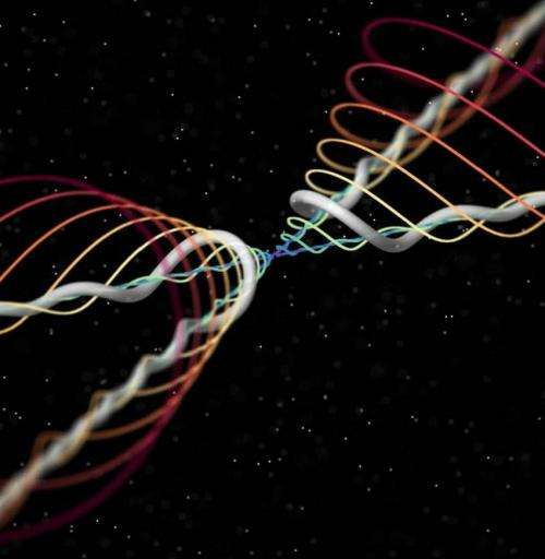 Researchers see Kelvin wave on quantum 'tornado' for first time