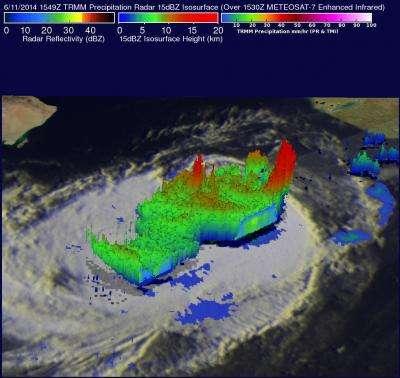 NASA sees Tropical Storm Nanauk's soaking swan song