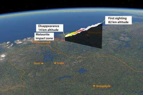 Kola fireball meteorites found in Russia